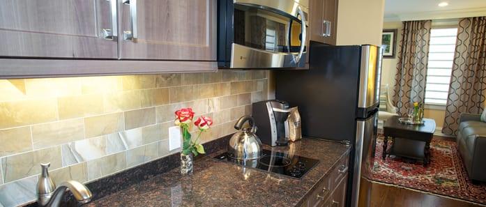 Kitchen in The Bush Suite