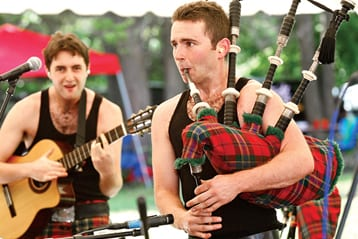 Mactalla Mor plays during the 90th annual Round Hill Highland Games at Cranbury Park Norwalk CT