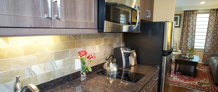 Kitchen in The Gruman Suite