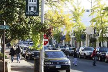 Shopping on Main Street Westport CT